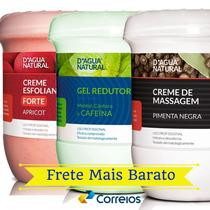 Creme Pimenta Negra + Gel Redutor + Esfoliante Dagua Natural