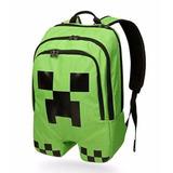 Mochila Minecraft Importada Creeper A Pronta Entrega - C452
