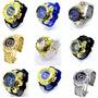 Relógios Masculino Dourado Grande Originais Vários Modelos