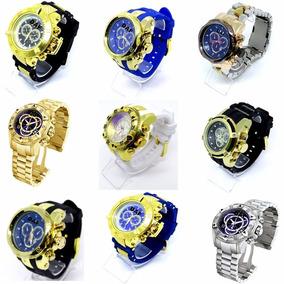 Relógio Masculino Dourado Ouro Grande Na Caixa Fréte Grátis