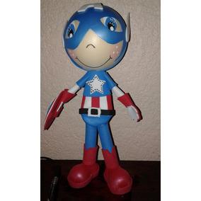 Centro De Mesa Fofucho Avengers Capitán América Foamy