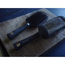 Set De 2 Cepillos Brushing Y Neumático Peluquería 3 Claveles