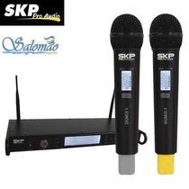 Microfone Skp Uhf Sem Fio Duplo Digimod Ii Frete Gratis