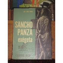 Luis Lara Pardo Sancho Panza Exégeta