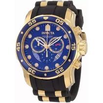 Relógio Tp1 Invicta 6983 Pro Diver Azul Preto 50mm Com Caixa