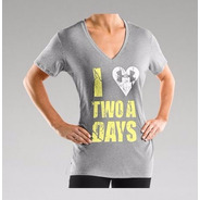 Under Armour Women´s I Heart 2 A Days Playera Cuello V  L