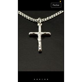 Pingente Crucifixo Em Prata Maciça 925