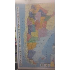 Mapa Mural Argentina 95 X 130 Politico - Fisico Microcentro