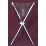 Taça Tripé De Chão Em Acrílico Com Pé Aluminio