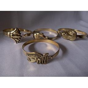 Pulseira Bracelete Cobre Luxor Lotus ,ankh ,olho De Horus