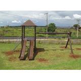 Parque Infantil Playground Em Madeira P-72