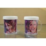 Lote 10 Souvenirs Tazas Violeta Plastica Personalizada