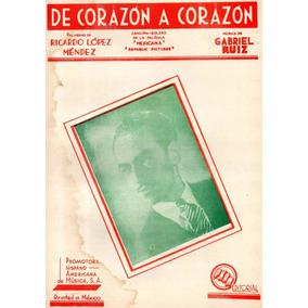 De Corazón A Corazón Ruiz Méndez Partitura