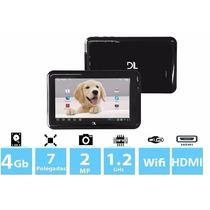 Tablet Dl Hd Plus Tela 7, 4gb, 1,2 Ghz, 1gb Ram, Hdmi, 2mpx