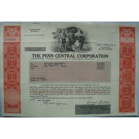 Apolice - The Penn Central Corporation, Ano 1982 - 89711