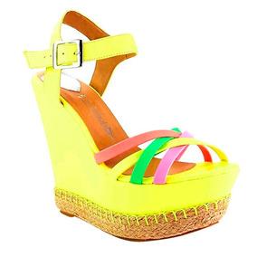 Sandalia Colores Vibrantes Zapato De Dama Mundo Terra.