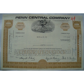 Apolice - The Penn Central Corporation, Ano 1970 - 19207g