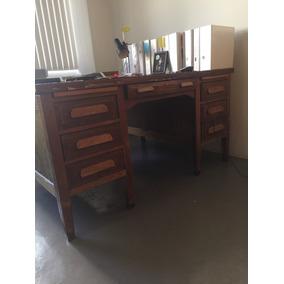 escritorio de madera vintage doble vista