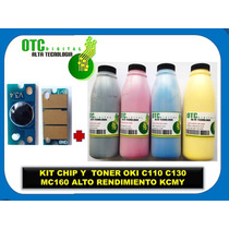 Kit Chip Y Toner Oki C110 C130 Mc160 Alto Rdmt Kcmy Rm4