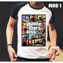 Camisa/camiseta Raglan Grand Theft Auto V Gta Pronta Entrega