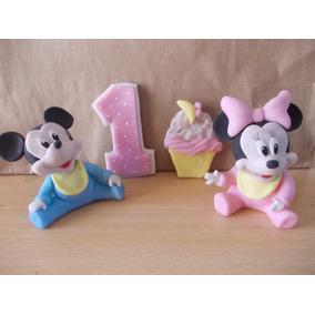 Mickey, Minnie, Donald Bebe En Porcelana Fria Para Tu Torta