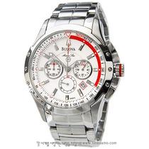 Relógio Luxo Bulova Marinestar 96b013 Orig Chron Anal Silver