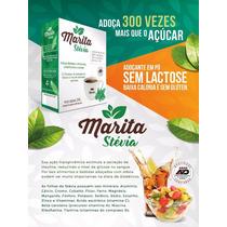 Kit 2 Cxs Adoçante Stevia Marita 100% Natural 50 Sache Cada