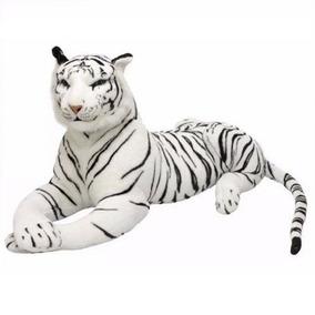 Tigre Branco De Pelúcia Gigante Safári 1 Metro - Original