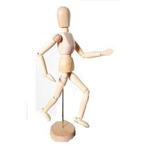 Boneco Articulado Madeira 30cm - Desenho Moda Arte Mangá