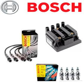 Kit Bobina+cabos+velas Gol G5 G6 Voyage Fox - Bosch - Novo