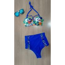Biquíni Hot Pant Cintura Alta /moda Panicat / Juju Salimeni