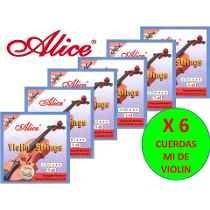 Cuerdas X 6 Cuerdas Mi Para Violin Marca Alice