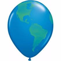 Balão Globo Terreste/mundo( Pacote Com 5 Balões 16 )
