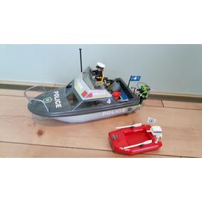 Playmobil - Antiga Lancha De Polícia Com Rotor (ler Abaixo)