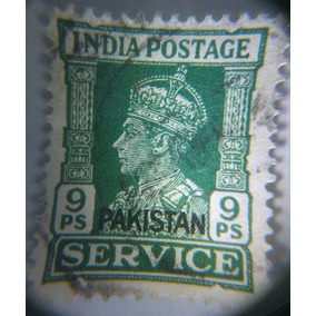 India Estampilla 9ps. Jorge Vi.(resello Pakistan) Usada