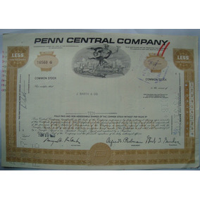 Apolice - The Penn Central Corporation, Ano 1969 - 16568g