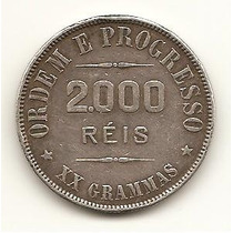 R30 - Moeda De 2000 Réis - Prata - X X Grammas - 1911