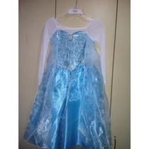 Disfraz Frozen Elsa Con Capa Hermoso Disney Frozen Elsa T 10