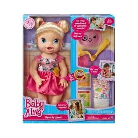 Boneca Baby Alive Comer Brincar Loira - Hasbro