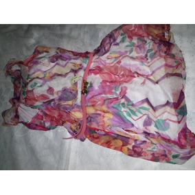 Vestido Tecido Fino Estampado Tamanho M