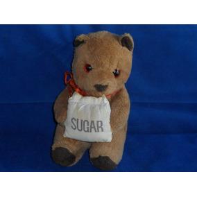 Antigo Sugar Bear Ursinho Pelúcia Segurando Saco De Açúcar