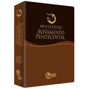 Bíblia De Estudo Avivamento Pentecostal Marrom