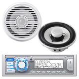 Combo Clarion Marino Estereo Bluetooth + 2 Bocinas