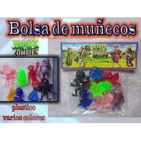 Plantas Vs Zombies - Figuras De Plástico Varios Colores