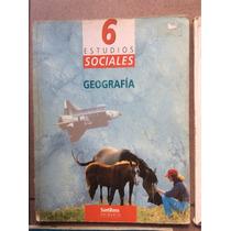 Estudios Sociales Geografía Sexto Primaria, Santillana