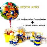 Kit Festa Personalizada Minions, Carros E Frozen C/160 Un