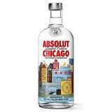 Vodka Absolut Chicago Com Tag - Lacrada + Frete Grátis