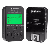Kit Radio Flash Yongnuo Yn622c-kit E-ttl Tx Com Lcd P/ Canon