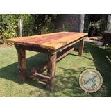 mesa rstica artesanal madera recuperada quebracho