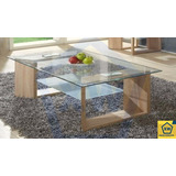 Mesa Ratona Vidrio Rectangular Roble/wengue